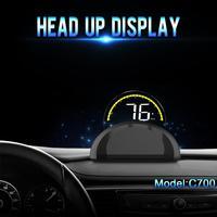 Car HUD Head Up Display Adjustable C700  OBD2 BBD II Car Speed Projector Speedometer OverSpeed Alarm Diagnostic Tool 2019 Newest Head-up Display     -
