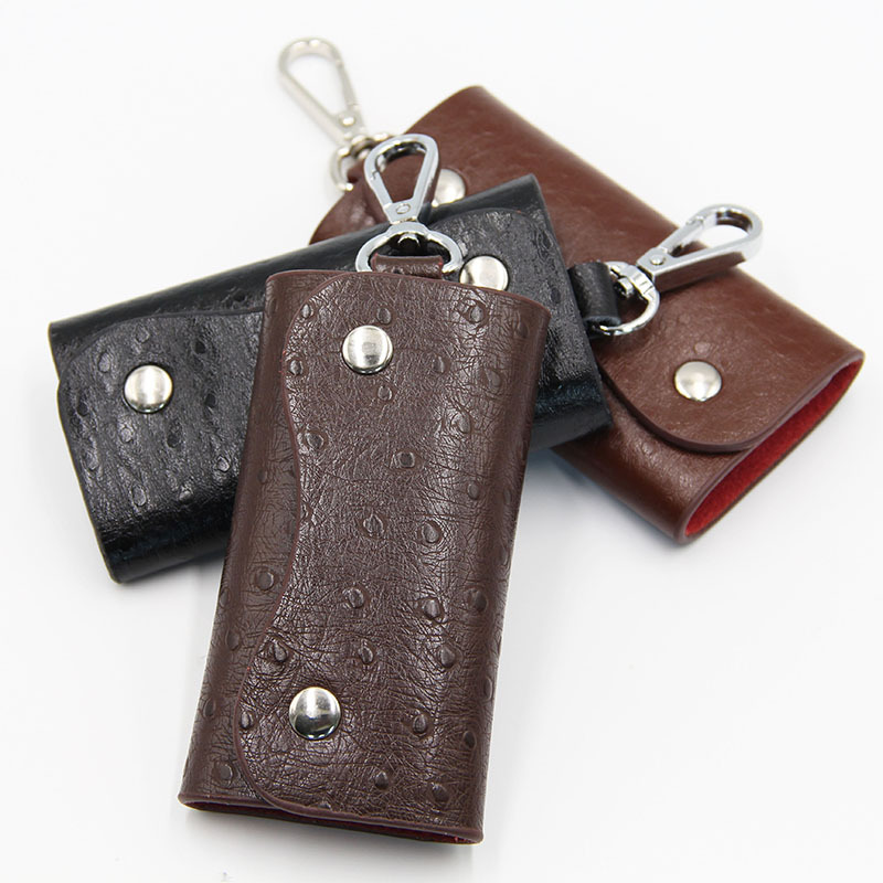 PU Leather Wallet Card Holder Business Organizer Housekeeper Keychain Purses Men Women Portable Pocket Car Keys Clip Bag