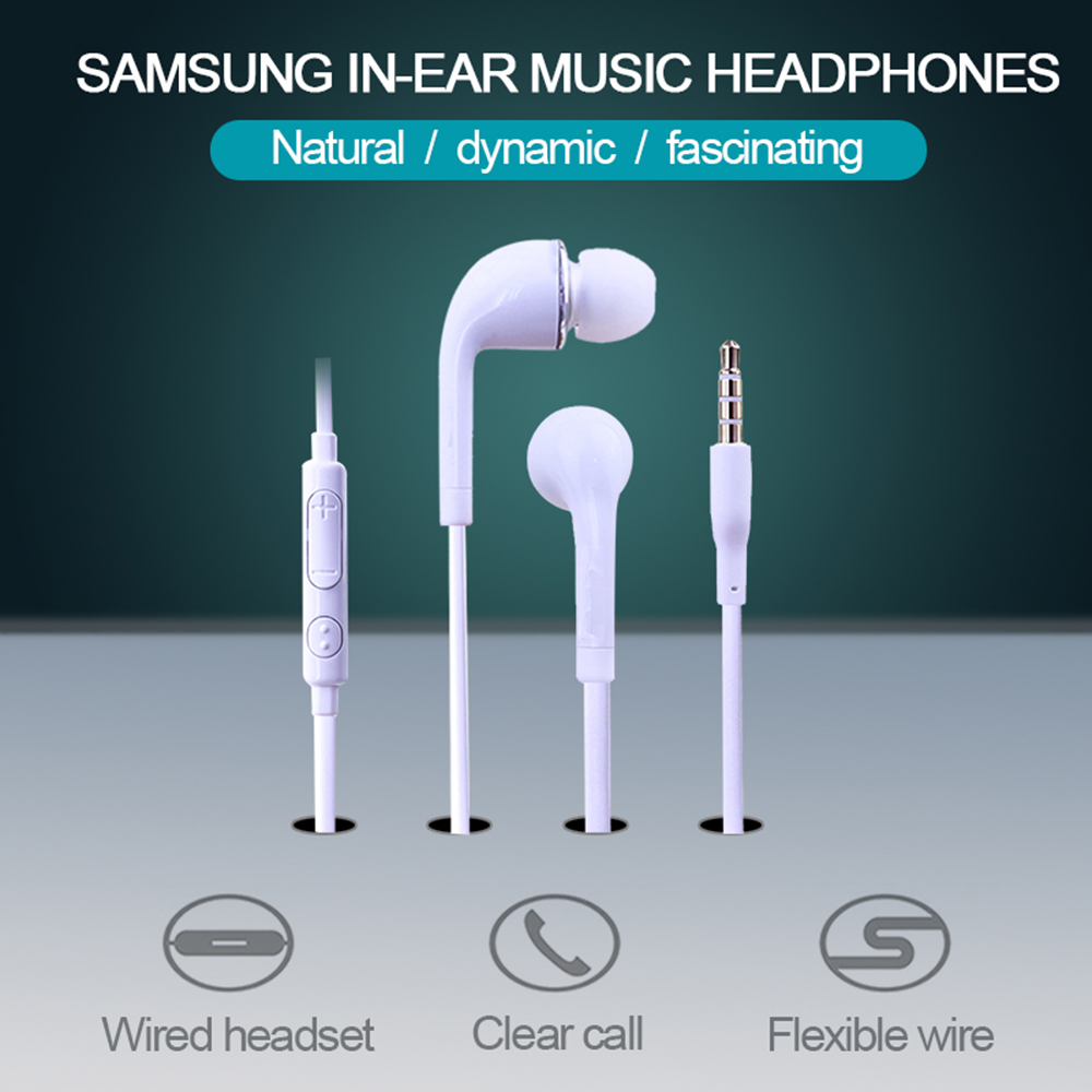 New Android Phone Headphones Earphones Wired Earpiece Bass In-Ear For Samsung S4 Headset 3.5mm High Quality Earphones