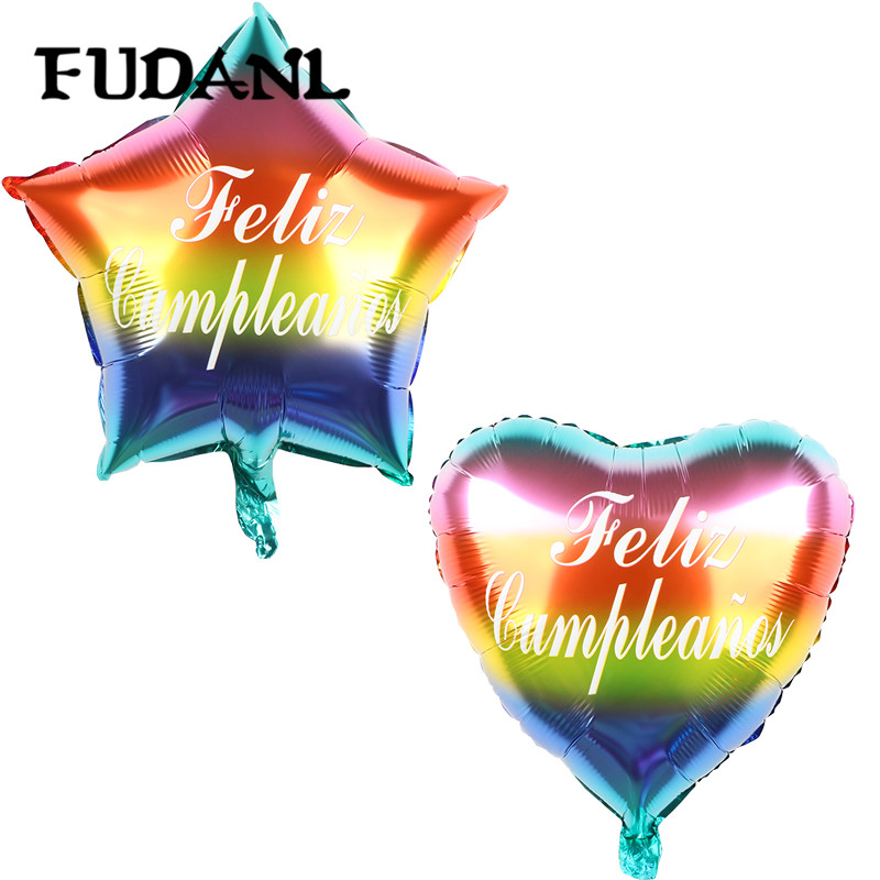 50pcs 18Inch Five-pointed Star Foil Balloon Feliz <font><b>Cumplea</b></font>ñ<font><b>os</b></font> Inflatable Helium Balloons Baby Birthday Party Decoration image