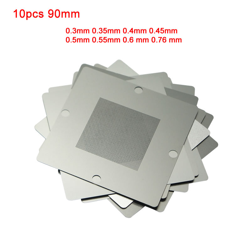 BGA Universal Stencil 10pcs 90mm 0.3mm 0.35mm 0.4mm 0.45mm 0.5mm 0.55mm 0.6 mm 0.76 mm for option Tool Parts    - AliExpress