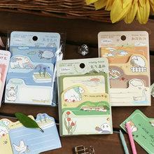 100 Sheets Warm Time Series Memo Pad Message Notes Decorative Notepad Diary DIY Paper Kawaii Stationery