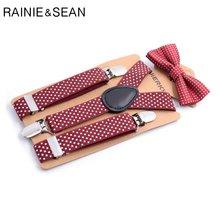Rainie sean/Детские подтяжки с галстуком бабочкой для мальчиков