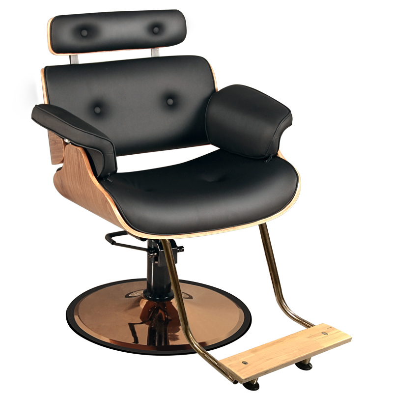 Hairdressing Chair Hair Salon Special Barber Shop Chair Ins Hair Cutting Chair Modern Simple Solid Wood Down Middle Work