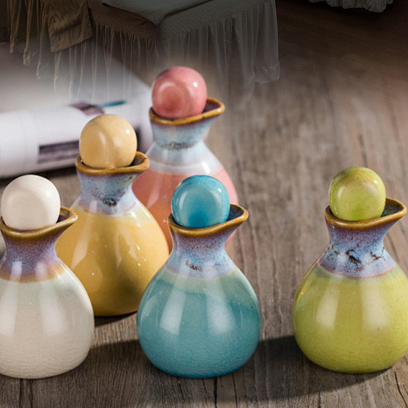 1Pc 60ml Ceramic Aromatherapy Empty Storage Container Fragrance Essential Oil Bottle