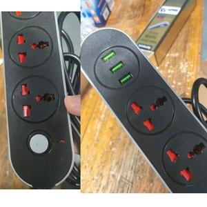 Image 3 - Prise universelle 3 voies USB multiprise USA royaume uni ue AU prise Extension de cordon électrique prise de surtension