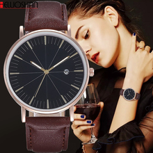 цена на Hot Fashion Quartz Watch Women Watches Female Clock Montre Femme Relogio Feminino Luxury Men WristWatch Couple Leather Relojes