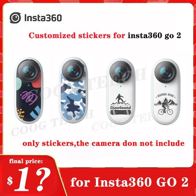 Insta360 Gaan 2 Originele Aangepaste Stickers Op De Romp Gepersonaliseerde Beschermende Stickers (2 Stuks)