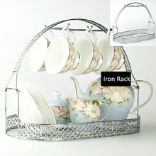 Household Coffee Cup Tea Cup Creative Drain Iron Rack Water Cup Rack Put Cup Rack Tea Set Storage Shelf