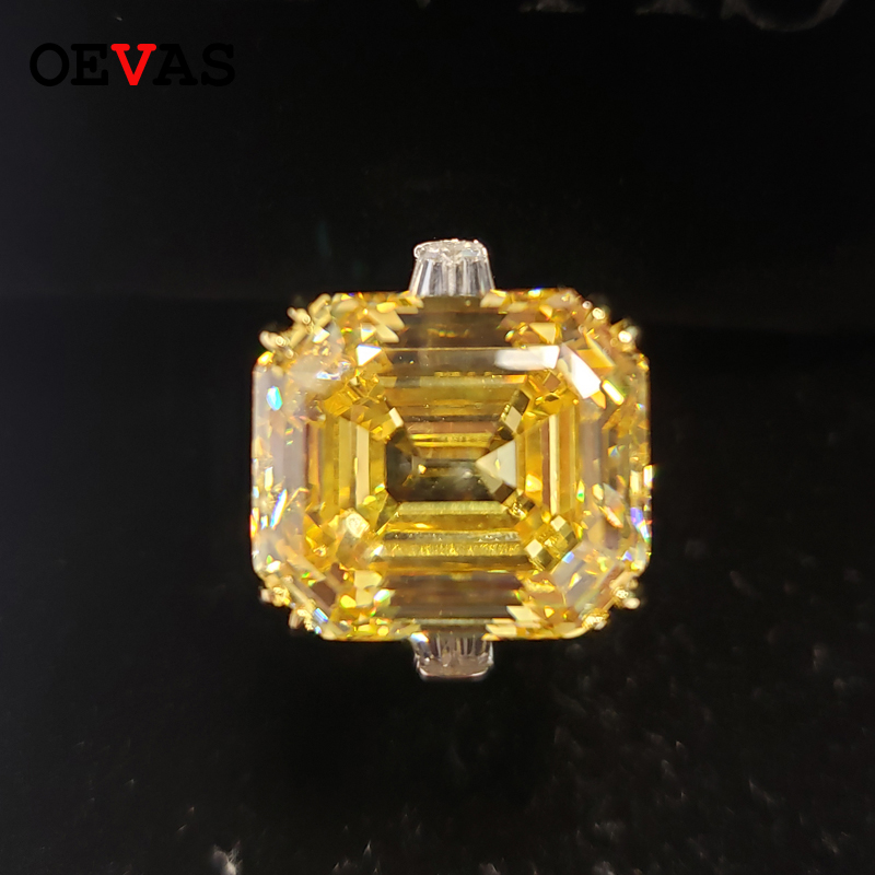OEVAS Vintage 925 Sterling Silver Created Moissanite Gemstone Engagement Couple Rings Wedding Bride Band Party Jewelry Wholesale