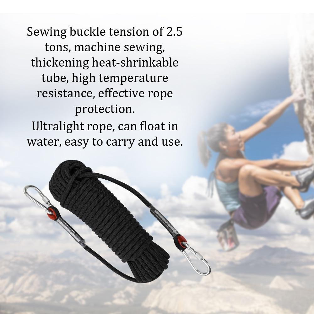 Cordes de sécurité de haute résistance de glace de roche de corde d'escalade de Paracord de survie extérieure pour l'entraînement relié extérieur de sauvetage d'escalade