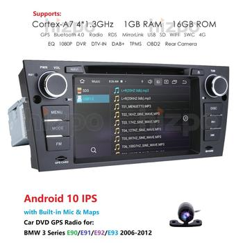 Android 10.0 Quad Core Autoradio DVD 7 UI GPS NAVI for BMW 3 Series E90 E91 E92 E93 Car Multimedia Head unit with Bluetooth Cam image