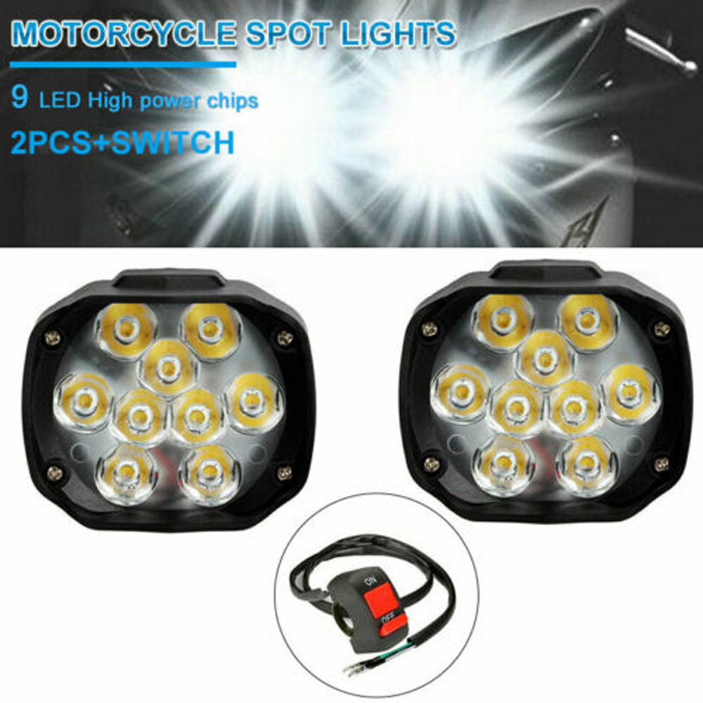 1 pair Electric Motorcycle bike LED Headlights External Super Bright Waterproof motor bike LED Turn Signal LED Headlights|  - title=