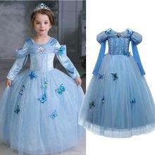 Elsa vestido trajes para crianças cosplay vestidos princesa vestido crianças vestidos de festa fantasia vestidos 4-10y meninas robe