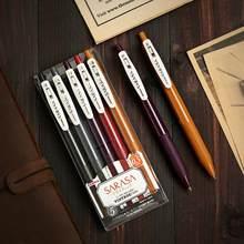 Japão papelaria zebra jj15 vintage cor gel caneta de tinta sarasa clip 0.5mm novas cores retro velocidade seca anti-fadiga assinatura caneta