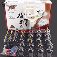 32 шт вакуумный массажер для тела в виде банок всасывающие чашки