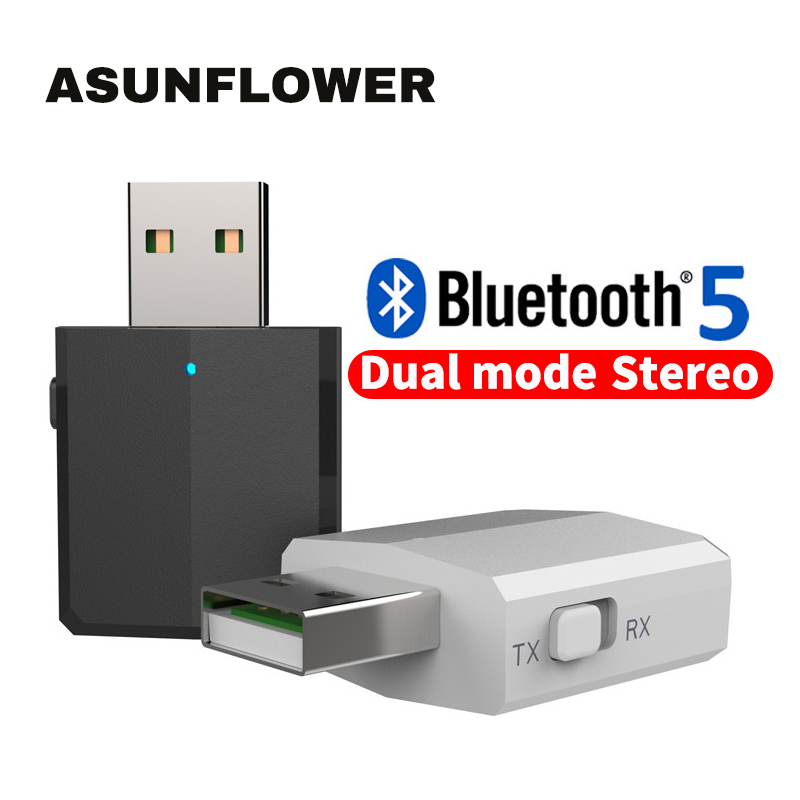 Bluetooth 5.0 Dongle Wireless Audio Adapter USB To 3.5 Jack Audio Transmitter&Receiver For Redmi Note 8 Pro Note 5 7 Pro K20 Pro