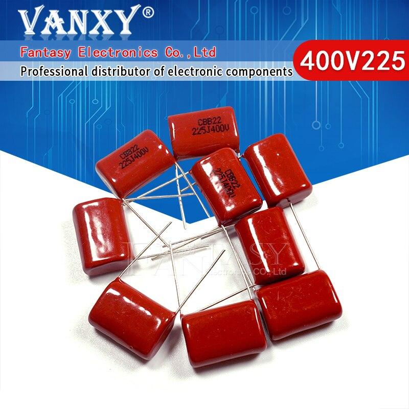 10 PIÈCES 400V225J 2.2UF Lancement 20M 225J400V 225 400V 2200PF CBB condensateur à film De Polypropylène   AliExpress