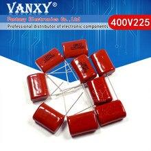 10 Uds 400V225J 2,2 UF paso 20M 225J400V 225 400V 2200PF CBB condensador de película de polipropileno