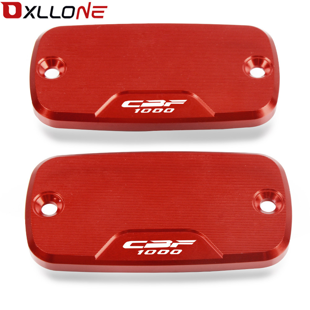 Motorcycle Power Part Front Brake Reservoir CNC Aluminum Cover Front pump cover Motorcycle part For Honda cbf 1000 2006 2012 in Covers Ornamental Mouldings from Automobiles Motorcycles