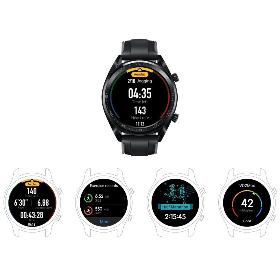 Reloj inteligente Original Global HUAWEI GT resistente al agua con rastreador de frecuencia cardíaca GPS para hombre, rastreador deportivo, reloj inteligente para Android IOS - 4