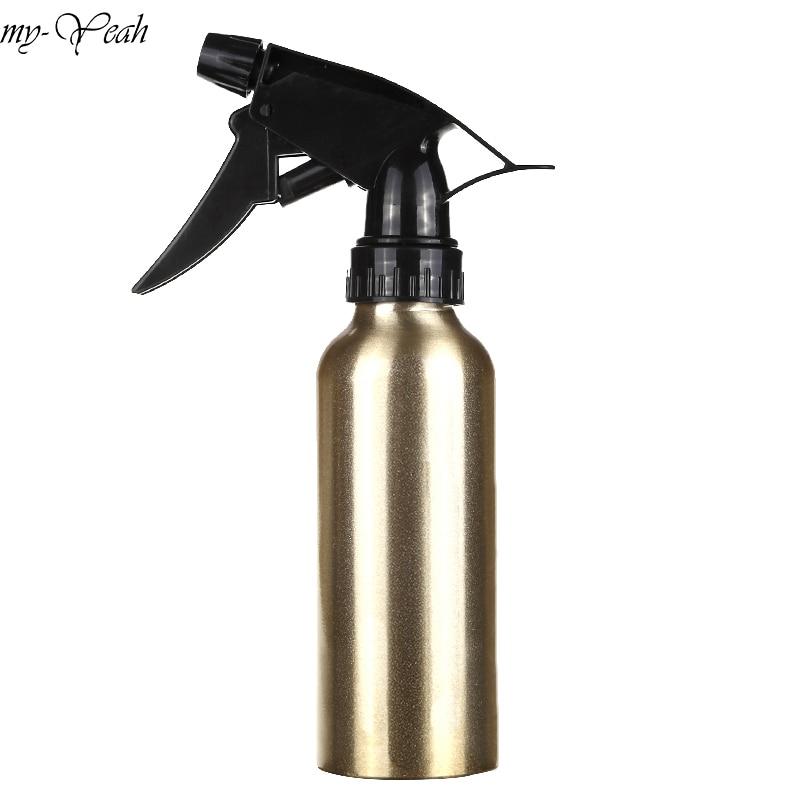 200ml Aluminum Pro Salon Hair Cutting Sprayer Atomiser Refillable Bottle Empty Water Spray Bottle Barber Hairdressing Tools