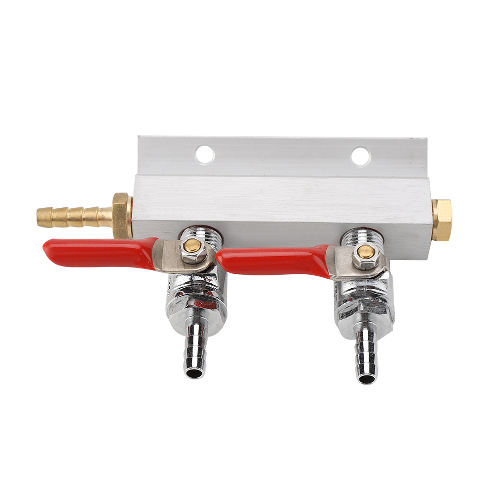 Stainless Steel 2 Way Beer Splitter Home Co2 Air Gas Manifold Distribution Splitter Brewing Equipment