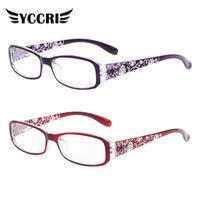 YCCRI-gafas de lectura con flores talladas para mujer, anteojos de lectura con protección para las piernas y luz azul, para presbicia, 2020