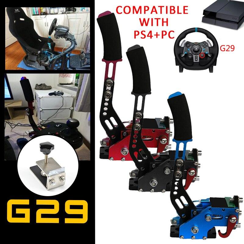 G295/G27/G29/G920 T300RS PS4 + PC USB Freno A Mano + Morsetto Per Logitech Dei Freni Da Corsa giochi Sistema di Freno A Mano Auto Parti di Ricambio