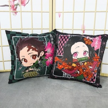 Pillowcase Cushion-Cover Anime Home-Kawai-Decor Kamado Nezuko Zipper Demon Slayer Ghost-Blade
