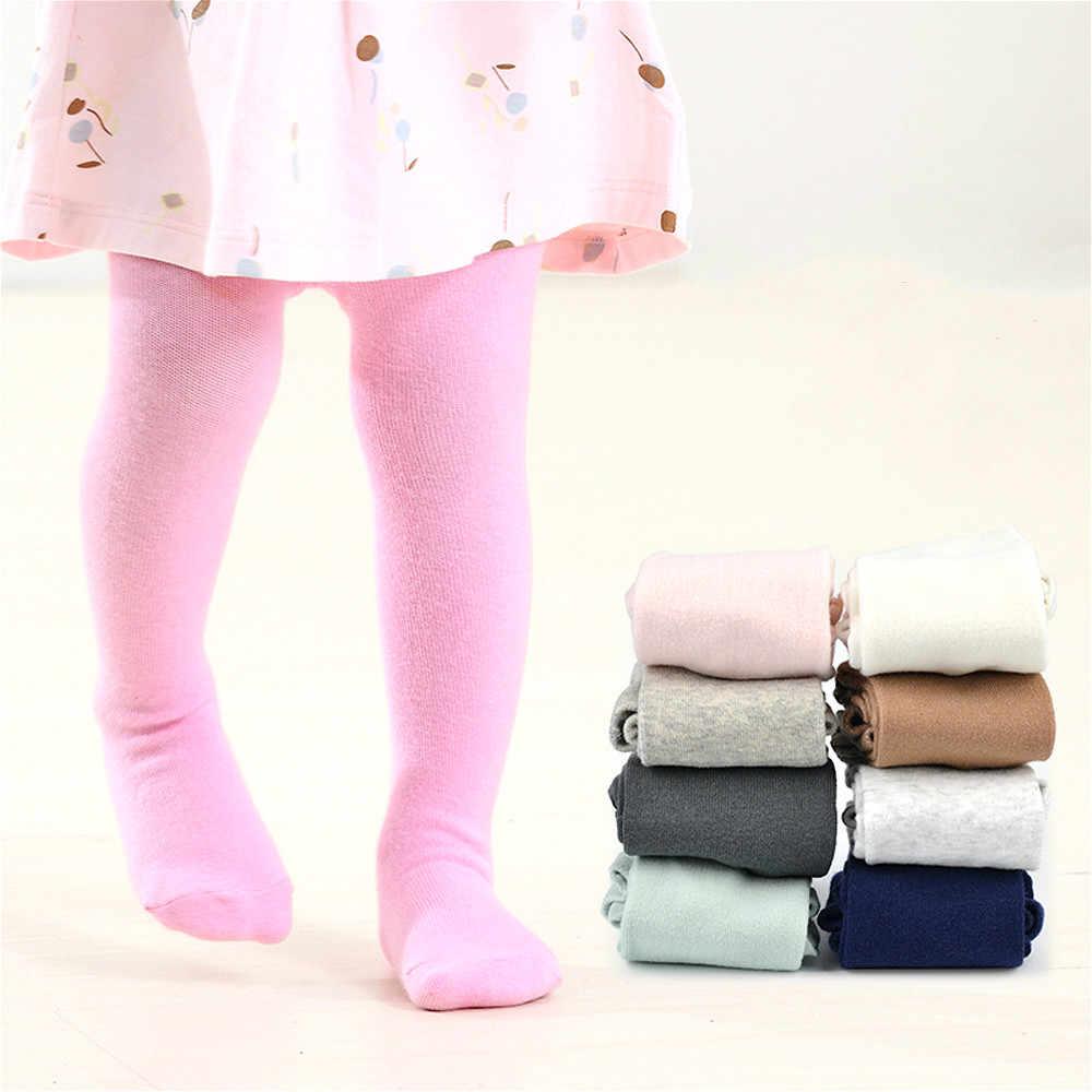 Recién Nacido bebé niña de algodón sólido pantimedias mallas polainas niño calcetines niñas cálido otoño invierno medias