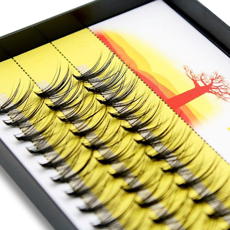 Kimcci 20D натуральные удлиненные Индивидуальные ресницы для наращивания, накладные ресницы, 60 пряди/коробка, профессиональный макияж, норковы...