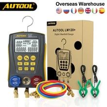 AUTOOL Digital Manifold Kit Air Conditioner Refrigerant Manifold Gauge Leak Manifold HVAC Vacuum Pressure Temperature Tester