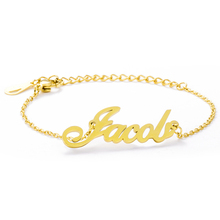 Customized Name Bracelet Jewelry Stainless-Steel Women Kid for Lover Valentines-Day