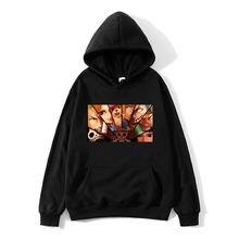 Худи с принтом из аниме «Наруто» Свитшот унисекс цельный пуловер
