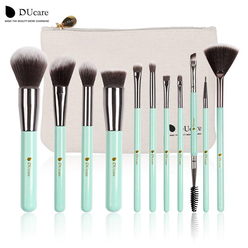 DUcare 11pcs Makeup Brushes Set Eye Shadow Foundation Powder Eyeliner Eyelash Lip Make Up Brush Cosmetic Beauty Tool Kit Hot