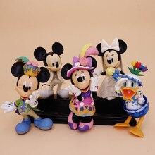Figuras de Disney de Mickey Mouse, Pato Donald, Minnie, decoración para pastel de cumpleaños, modelo de figura de acción de Mickey, juguetes para niños y niñas