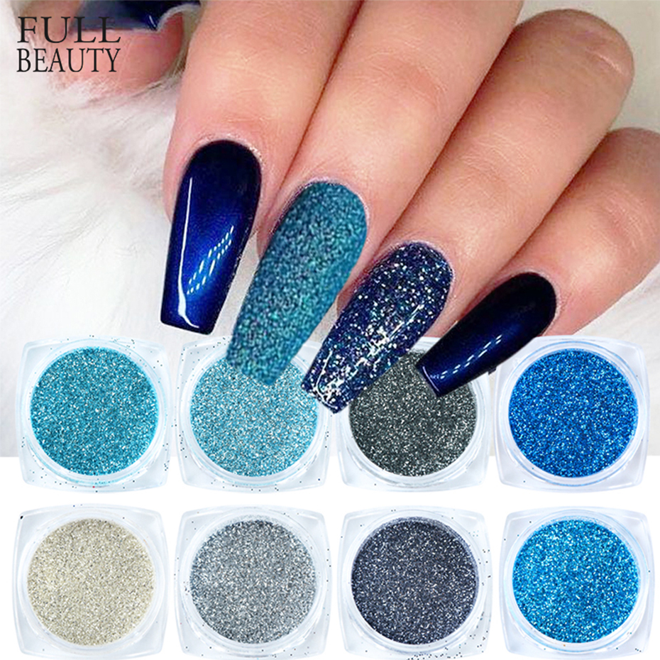 Holographic Nail Glitter Sequins Chrome Powder Set Laser Sparkly Pigment DIY Manicure Nail Art Decorations Accessories CH1539-25