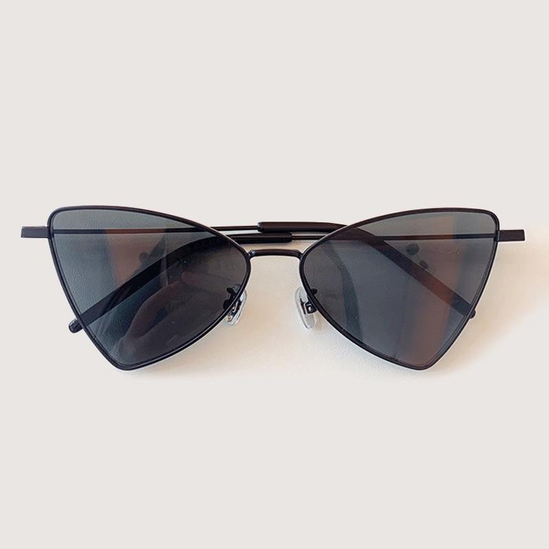 2020 New Brand Designer Cat Eye Sunglasses Women Retro Metal Mirror  Glasses For Women Gafas De Sol Mujer