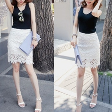 4 Color Women Summer Autumn Casual Knee-Length Mid Waist Wild Skirt Lace Solid Fashion Strap Bottom Bag Hip Skirts