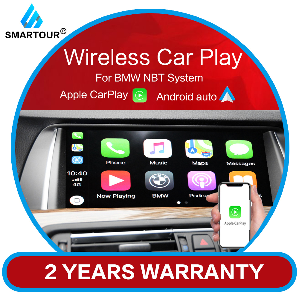 Smartour Wireless Apple CarPlay Android Auto for BMW NBT F10 F20 F30 X1 X3 X4 X5 X6 F25 MINI Series Air play reversing camera(China)