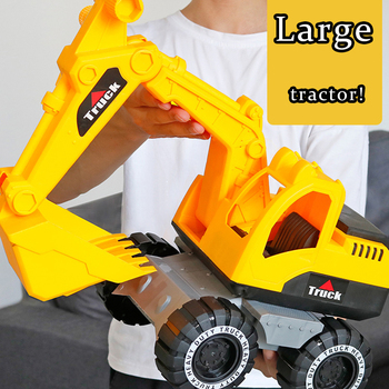 Baby Classic Simulation Engineering Car Toy Excavator Bulldozer Model Tractor Toy Large Size Dump Truck Model Car Toy Kid Gifts