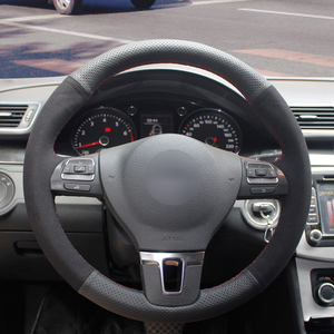 Image 1 - Camurça preta Genuína Tampa Da Roda de Direcção Do Carro para BMW 320d E90 320 318i 320i 325i 330i X1 328xi 2007