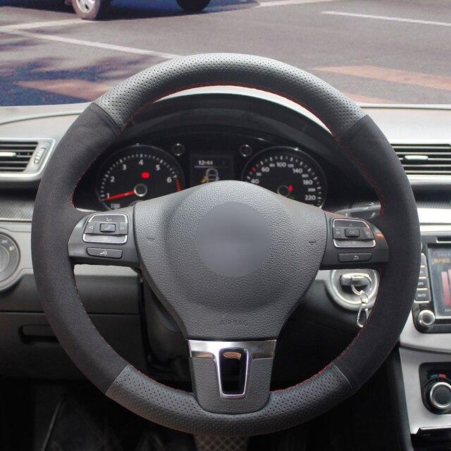 Camurça preta Genuína Tampa Da Roda de Direcção Do Carro para BMW 320d E90 320 318i 320i 325i 330i X1 328xi 2007