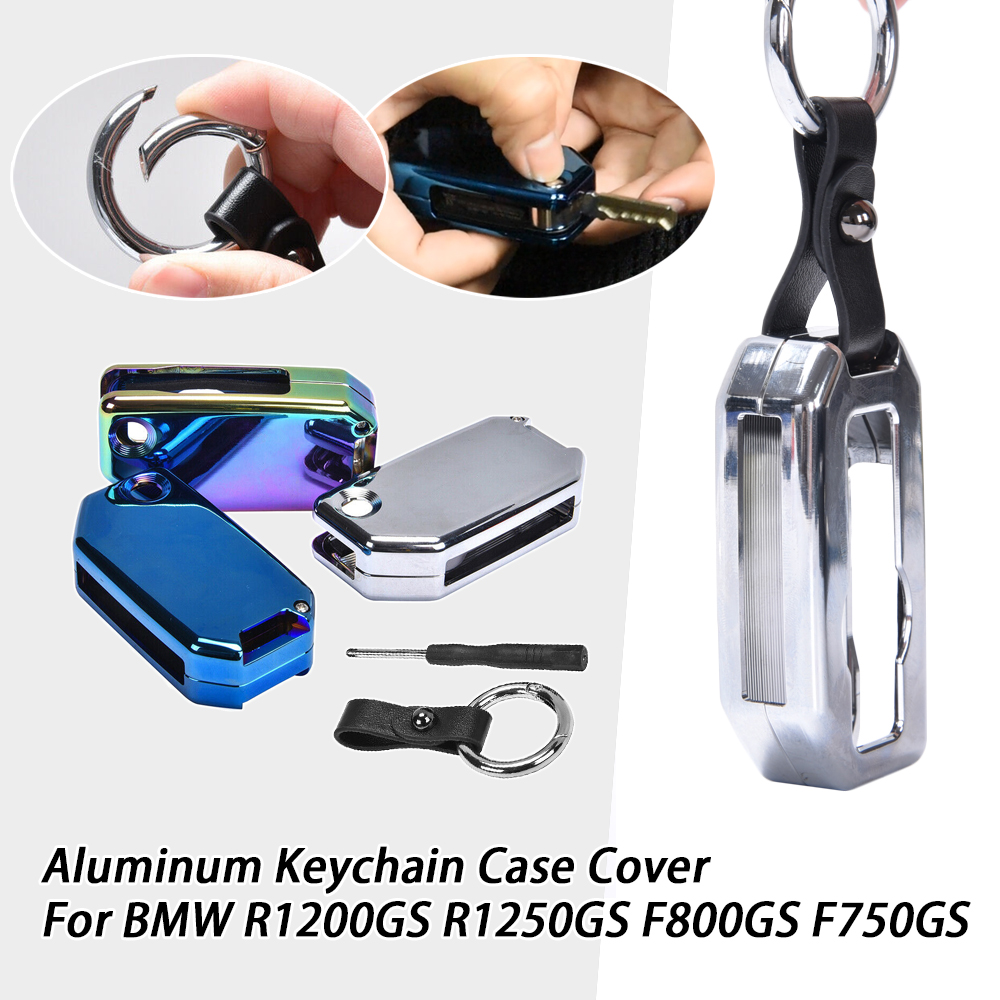 Aluminum Motorcycle Keyring Key Chain Holder Room Keychain Moto Key Case Cover For BMW R1200GS R1250GS F800GS K1600 GT 2013-2019 image