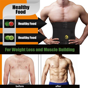 Image 2 - NINGMI Men Waist Trainer with Pocket Neoprene Man Shaper Cincher Corset Male Body Modeling Belt Slimming Strap Fitness Shapewear