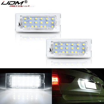 iJDM Xenon White OEM-Fit 3W Full LED For 2004-2009 BMW E83 X3 & For BMW 2001-2006 E53 X5 License Plate Light,Can-bus Error Free image