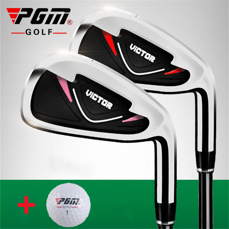 PGM Golf Club Carbon Stainless Steel Practice Pole Push Rod Chipping Clubs Golf Putter Golfs Driver No.7 Irons+1 Ball