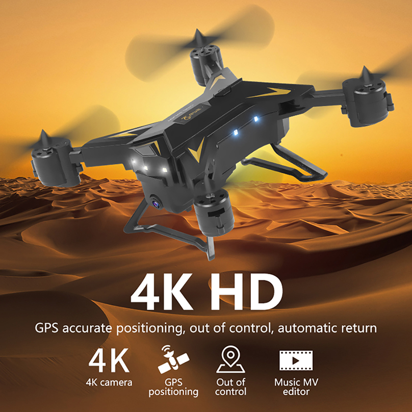 5G WIFI FPV Drone Pro pliable GPS Drone KY601G 4K HD caméra LED 2.4G 4CH 1.8km longue Distance 20 minutes vol RC quadrirotor