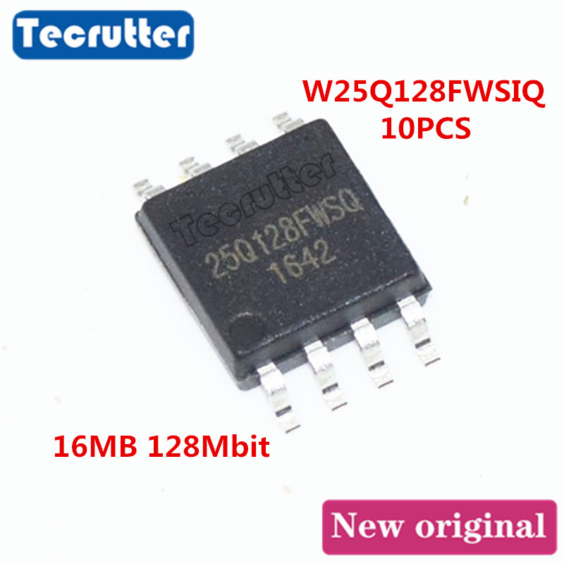 10PCS W25Q128FWSIQ 25Q128FWSQ SOIC8 16MB 128Mbit 25Q128 W25Q128FW SPI NOR FLASH